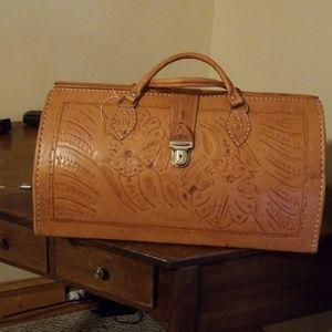 Handbags - Leather Carmel Travel Bag